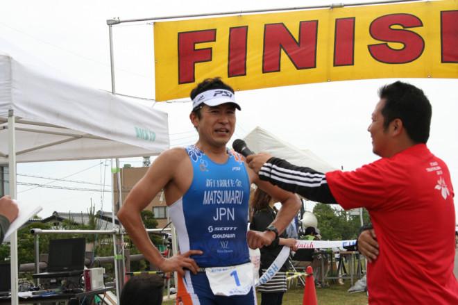 連覇中の松丸真幸選手です。
